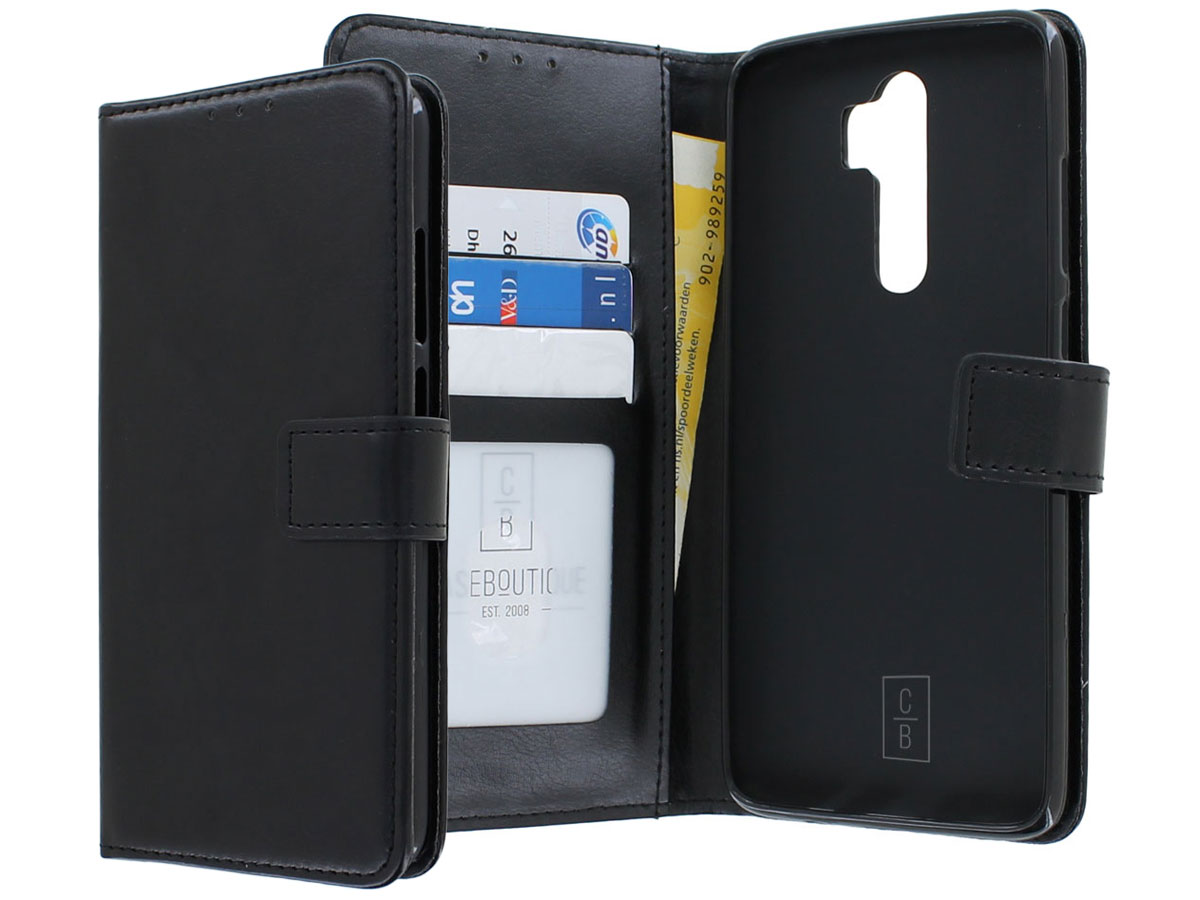 Book Case Wallet Mapje Zwart - Xiaomi Redmi Note 8 Pro hoesje