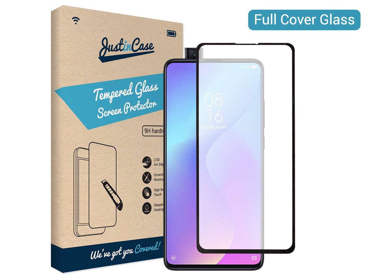 Xiaomi Mi 9T Screen Protector Glas Full Cover Curved Edge Tempered Glass