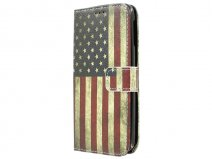 Vintage USA Flag Book Case Hoesje voor Acer Liquid Jade S