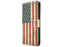 Vintage USA Flag Book Case Hoesje voor Acer Liquid Z5