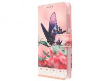 Butterfly Book Case - Acer Liquid Z520 hoesje