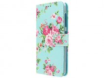 Flower Book Case - Acer Liquid Z520 hoesje