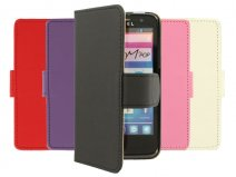 Classic Book Case Hoesje voor Alcatel One Touch M'Pop