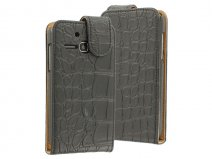 Croco Flip Case Hoesje voor Alcatel One Touch M'Pop