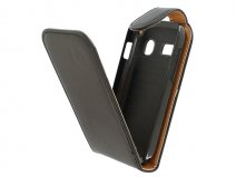 Classic Leather Flip Case - Alcatel OneTouch Pop C3 hoesje