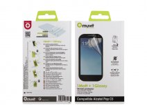 Muvit Screenprotector Glossy & Matte voor Alcatel One Touch Pop C5
