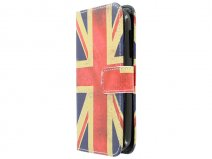 Vintage GB Flag Book Case Hoesje voor Alcatel OneTouch Pop C5