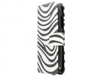 Zebra Book Case Hoesje voor Alcatel OneTouch Pop C5
