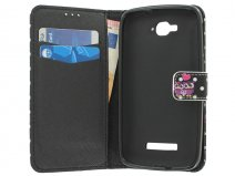 Uiltjes Book Case - Alcatel One Touch Pop C7 Hoesje
