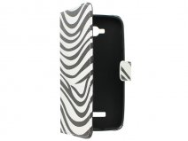 Zebra Book Case Hoesje voor Alcatel OneTouch Pop C7