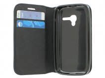 Slimline Wallet Book Case - Hoesje voor Alcatel OneTouch Pop D3