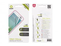 Muvit Screenprotector Glossy & Matte voor Alcatel One Touch Pop S3