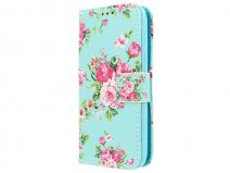 Flower Book Case - Alcatel PIXI 3 4.5 hoesje