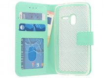 Mintgroene Book Case - Alcatel PIXI 3 4.5 hoesje