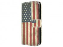 Vintage USA Flag Book Case - Alcatel PIXI 3 4.5 hoesje