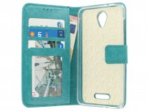 Bookcase Turquoise - Alcatel Pop 4 hoesje