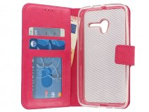 Wallet Bookcase - Alcatel Pop 3 (5) Hoesje (Roze)