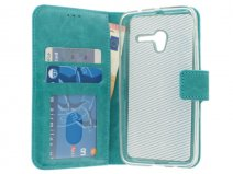 Wallet Bookcase - Alcatel Pop 3 (5) Hoesje (Turquoise)