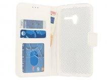 Wallet Bookcase - Alcatel Pop 3 (5) Hoesje (Wit)