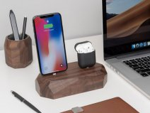 Oakywood Dual Dock Walnut - Houten Lightning/Watch Dock