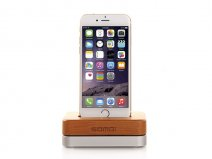 Lightning Dock van Aluminium en Hout voor iPhone en iPod