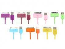 Color Series Dockconnector USB Kabel voor iPod, iPhone en iPad