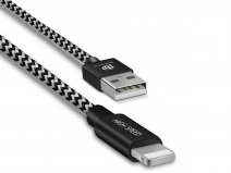 Lightning USB Kabel Lang 200cm - Nylon Geweven
