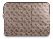 Guess Monogram Laptop Sleeve Bruin - 13 inch MacBook Hoes