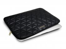 Guess Quilted Laptop Sleeve Zwart - 13 inch MacBook Hoes