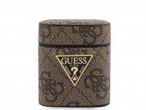 Guess 4G Monogram Case Bruin - AirPods 1 & 2 Case Hoesje
