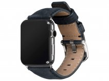Sena Heritage Leather Strap Blauw - Apple Watch Band 42/44mm