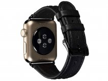 Sena Isa Leather Strap Zwart - Apple Watch Band 38/40mm