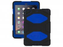 Griffin Survivor Case Zwart/Blauw - iPad Air 1 Hoesje