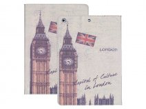 Big Ben London Retro Stand Case Hoes voor iPad Air