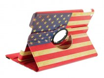 Vintage USA Flag Swivel Case - Draaibare Hoes voor iPad Air