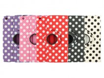 Polka Dot Swivel Case - iPad mini 1/2/3 hoesje