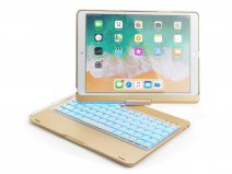 Bluetooth Toetsenbord Case 360 Goud - iPad Air 3 Toetsenbord Hoesje