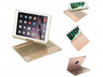 Bluetooth Toetsenbord Case 360 Goud - iPad 9,7
