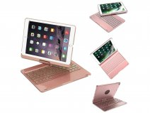 Bluetooth Toetsenbord Case 360 Rosé - iPad 9,7