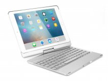 Bluetooth Toetsenbord Case 360 Zilver - iPad 9,7