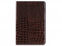 Crocodile Stand Case Bruin - iPad Mini 4 Hoesje