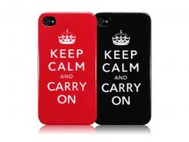 Terrapin 'Keep Calm and Carry On' TPU Hoesje voor iPhone 4/4S