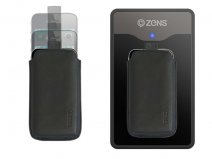 Zens Qi Leather Wireless Charging Sleeve Case voor iPhone 4/4S