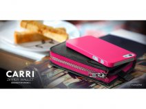 more. Carri - iPhone SE/5s/5 hoesje + Leren Purse