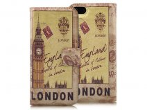 Retro London Book Case - iPhone SE / 5s / 5 hoesje