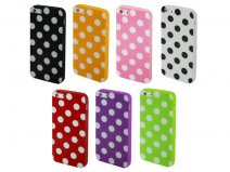 Polka Dot TPU Soft Case - iPhone SE / 5s / 5 hoesje
