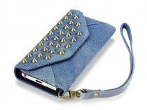 Covert Studded Denim Wallet Case - Hoesje voor iPhone 5C