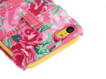 Real Denim Flower Jeans Case Hoesje voor iPhone 5C
