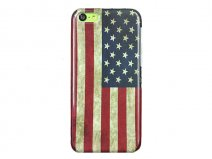 Vintage USA Flag Case Hoesje voor iPhone 5C