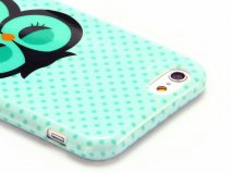 Sleepy Owl Soft Case - Hoesje voor iPhone 6/6S